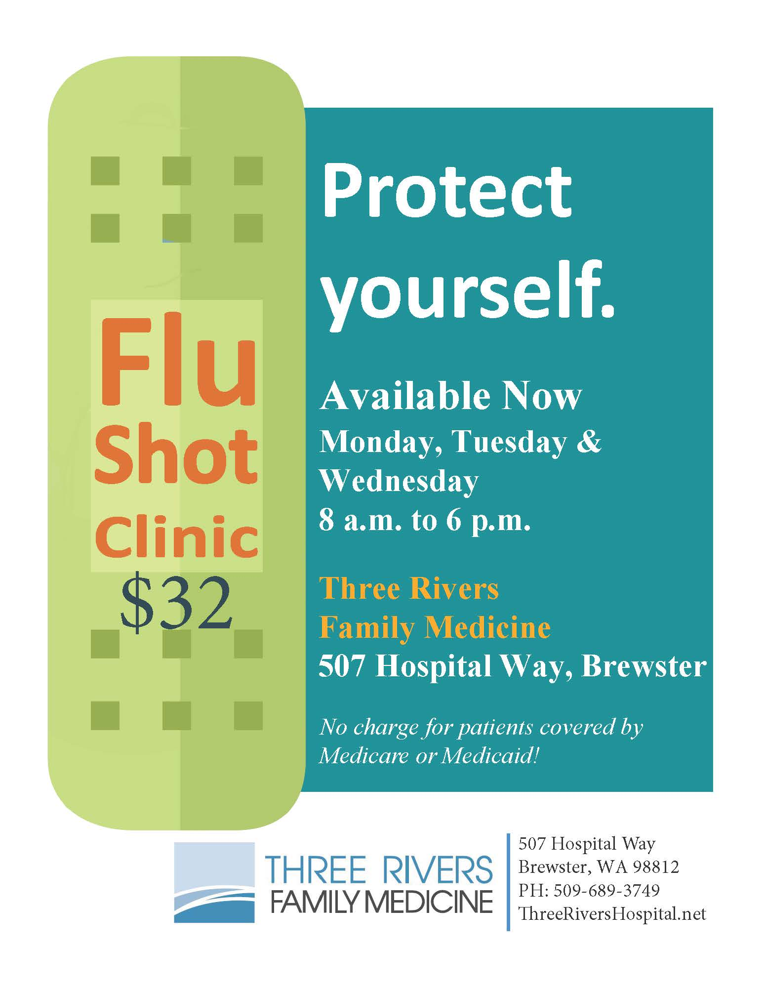 Flu Vaccine Flyers Free: Flu Shots Available Now!